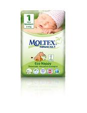 Paquete de 6er 138 St Moltex nature no1, oso ecológica pañales de bebé Newborn talla 1 (2-4 kg) 6x23
