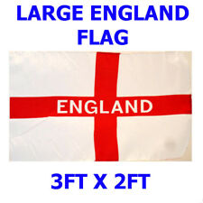 LARGE 3FT x 2FT England St George Cross National Flag Football Sport Pub Support