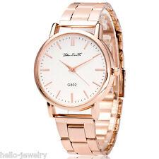 Damen Herren Uhr Armbanduhr Quarzuhr Analog Stahlband Watch Geschenk M17256