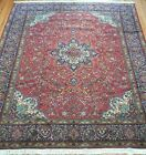 EXCELLENT FLORAL TABRIZZ HAND KNOTTED WOOL LARGE ORIENTAL RUG CLEANE  10'x13'