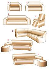 Trendige Stretch-Husse  für ein großes Eck-Sofa in creme  ----NEU----