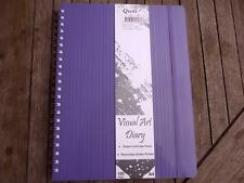 Quill Visual Art Diary A4 Removable divider pocket 120 pages 120gsm cartridge pa