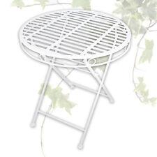 Bistrotisch Ø 70 cm Balkon Garten Terasse Metall Tisch Klapptisch Landhausstil