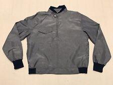 Vintage Royal Golf Clothing Nylon Poly Long Sleeve Half Zip Shirt Mens Large