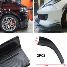 2x Carbon Fiber Style Auto SUV Bumper Lip Diffuser Splitter Canard Front Shovels