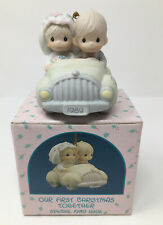 "Precious Moments 1989 ""Our First Christmas Together"" Porcelain Ornament 521558"