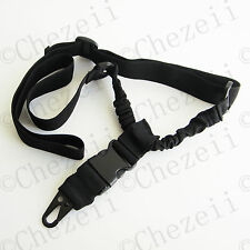 Quick Detach Black HK Hook Single one 1 Point Bungee Sling With QD Buckle