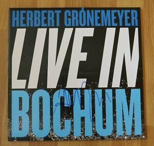 """ORIGINAL Autogramm von Herbert Grönemeyer auf VINYL 12"""". """"LIVE IN BOCHUM""""."""