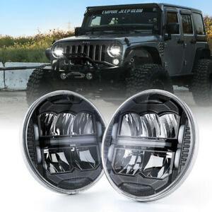 "Xprite 7"" 60W LED Head Lights High/Low Beam w/ DRL For 97-18 Jeep Wrangler TJ JK"