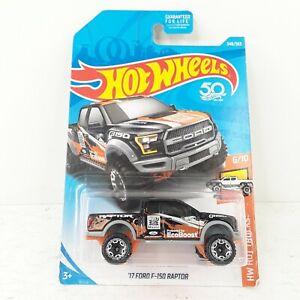 Hot Wheels 348/365 '17 Ford F-150 Raptor Black 6/10 HW Hot Trucks New