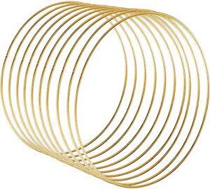 10x 15cm Gold Dream Catcher Dreamcatcher Rings Hoops Ring Macrame Craft Hoop