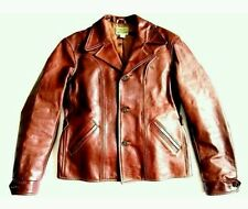 LEVI LVC x AERO 1930s TWO TONE LEATHER JACKET 40 M GANGSTER VTG