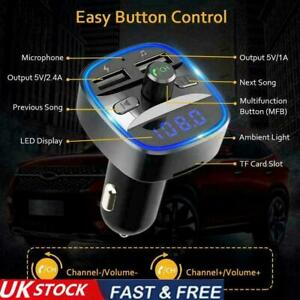 In-Car Bluetooth Hands Free MP3 Player/Phone to Radio Transmitter 2 FM UK