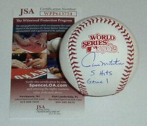 BREWERS Paul Molitor signed 1982 World Series baseball w/ 5 Hits Game 1 JSA AUTO
