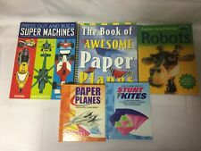 5x Kid's Craft Books Stunt Kites Paper Planes Robots Press Out Super Machines