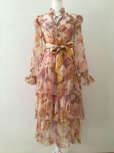 Zimmermann Tempo Tiered Frill Midi Dress Size 0