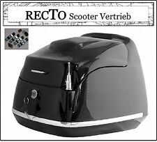 Grand Retro Classic Roller Top Case Koffer Helm Mofa Scooter 40Liter BOX schwarz