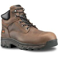 "Timberland Pro Workstead 6"" Composite Toe Mens Brown Leather Work Safety Boots"