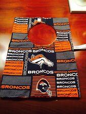 Denver Broncos  Baby Bib & Taggie/Security blanket Plus Pacifier/toy Clip
