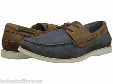 Tommy Bahama Men's Brody US 13 M Blue & Brown Leather Boat Oxfords Shoes $168