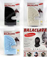 PolarSport Fleece Balaclava Face Mask Hood Snow Skiing Black Blue White Cream