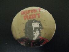 Quiet Riot-Mental Health-Gold-Large Pin Badge-80's Vintage-Rare