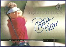 DOTTIE PEPPER - 2004 04 SP AUTHENTIC SOTT SIGN OF THE TIMES SIGNED AUTO CARD #DP