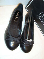New Mia Womens Karat Black Sequin Flats Shoes 6 Medium