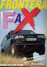 Vauxhall Frontera Fax 1993-94 UK Market Foldout Sales Brochure Sport Estate