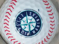 SEATTLE MARINERS BASEBALL W/STITCH LOGO GOLF BALL