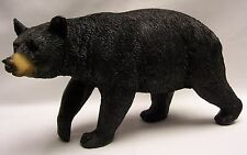 "Black Bear Walking Figurine 8"" Long, 4.5"" Tall, Rustic Home/Cabin Decor"