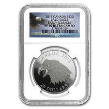 2013 Canada 1 oz Silver $20 The Bald Eagle PF-70 NGC ER