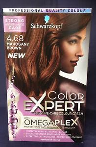 3 x SCHWARZKOPF COLOR EXPERT MAHOGANY BROWN 4.68 PERMANENT HAIR COLOUR DYE