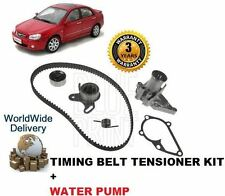 FOR KIA CERATO 1.6 2/2004 >ON NEW TIMING CAM BELT TENSIONER KIT & WATER PUMP