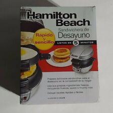 Hamilton Beach Breakfast Sandwich Maker Kitchen Countertop Press 25475