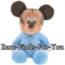 "Disney Parks Baby Mickey Mouse Premium Super-Soft Rattle Plush Doll Toy 9"" (NEW)"