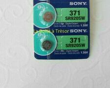 2 Piles SONY 371 - SR920SW - 1.55V Neuf