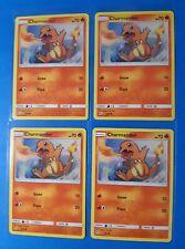 4x Charmander 7/68 Pokemon card SM Hidden Fates common NM