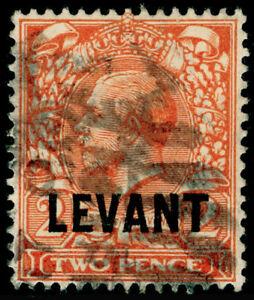 BRITISH LEVANT SG L18, 2d reddish orange, USED. Cat £45.