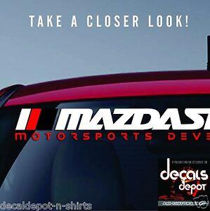 Fits Mazda Miata MX-5 CX-3 CX5 Mazda3 Mazda5 Mazda6 WINDSHIELD BANNER DECAL