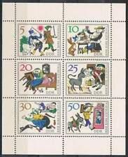 DDR postfris 1966 MNH Kleinbogen / Vel 1236-1241 - Sprookjes