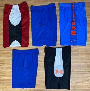 Lot 5 Nike Elite Jordan Under Armour men's athletic basketball shorts size M