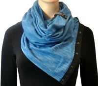 NWT Lululemon Vinyasa Scarf Heathered Tofino Teal Blue Black HTOF NEW
