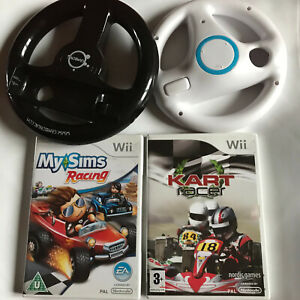 Kart Racer & MySims Racing + 2 Unofficial Wheels Bundle / Nintendo Wii / PAL