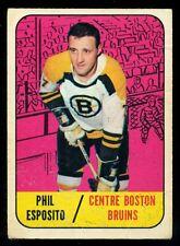 1967-68 TOPPS HOCKEY #32 PHIL-ESPOSITO VG-EX Boston Bruins Card