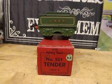 A HORNBY CLOCKWORK No 501 TENDER WAGON O GAUGE GREEN LNER MINT BOXED