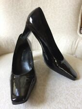 Etienne Aigner Strada classic Black pump patent leather High heels 8 M Superb