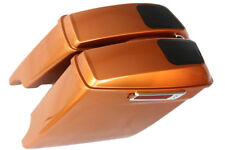 """Amber whisky 4.5"""" Dural cuts 6*9 speaker Saddlebags for Harley 2014-2017 latch"""