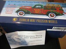 Franklin Mint 1937 Studebaker Christmas Truck 1-24 Mint In The Box W/ Paperwork