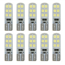 10x Xenon White 6000K T10 W5W 12SMD 2835 LED Canbus Error Free Silica Light Bulb